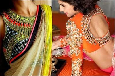 Mirror-embellished-ovel-back-neck-design