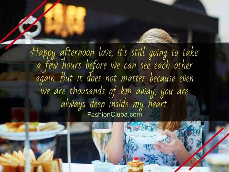 good afternoon messages for your lover