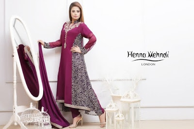 Purple Diamante Embroidered Outfit.