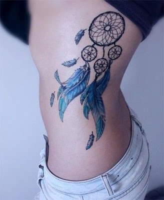 dreamcatcher-tattoo-on-rib