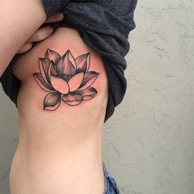lotus-tattoo-on-rib
