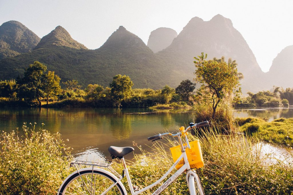 Cycle through watercolour landscapes in China