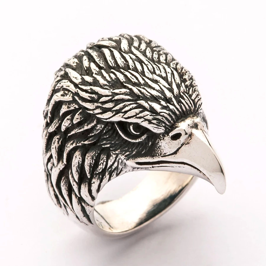 eagle-head-biker-ring